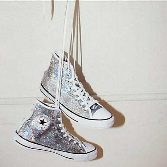 Converse Shoes   Sequin Hightop